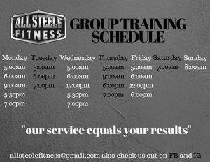 ASF Group Training Schedule